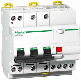 DPN N Vigi Дифф. автомат 4-полюс. 10A 30mA, тип AС, 6kA, (хар-ка C) Schneider Electric. Вид 1