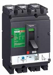 CVS 160N 3P TM125D Термо-магнит. 3х-полюс. автомат 125А 50кА, подключ. под шину Schneider Electric. Вид 1