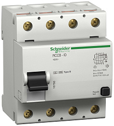Дифф.выкл.нагр. id 4п 40a 500ma b-тип Schneider Electric. Вид 1