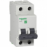 Автомат 2-полюсный 6А 4,5кА (хар-ка C) EASY 9 Schneider Electric