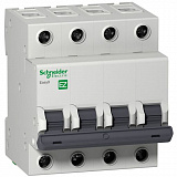 Автомат 4-полюсный 50А 4,5кА (хар-ка C) EASY 9 Schneider Electric