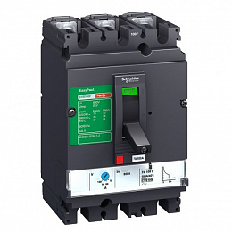 CVS 100F 3P TM16D Термо-магнит. 3х-полюс. автомат 16А 36kA, подключ. под шину Schneider Electric. Вид 1