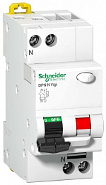 DPN N Vigi Дифф. автомат 2-полюс. 6A 30mA, тип AС, 6kA, (хар-ка В) Schneider Electric. Вид 1